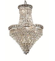 Picture for category Chandeliers 12 Light With Clear Crystal Spectra made with Swarovski Chrome size 18 in 720 Watts - World of Classic