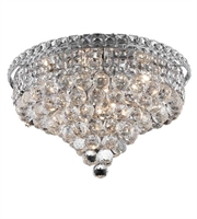 Picture for category Flush Mounts 8 Light With Chrome Finish Swarovski Strass E12 Bulb 18 inch 480 Watts - World of Classic