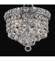 Picture for category Flush Mounts 2 Light With Chrome Finish Swarovski Strass E12 Bulb 8 inch 120 Watts - World of Classic