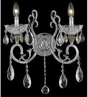 Picture for category Wall Sconces 2 Light With Chrome Finish Elegant Cut E12 Bulb 16 inch 120 Watts - World of Classic