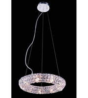 Picture for category Pendants Porch 9 Light With Clear Crystal Royal Cut Chrome size 14 in - World of Classic