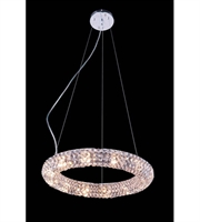 Picture for category Pendants Porch 12 Light With Clear Crystal Royal Cut Chrome size 18 in - World of Classic