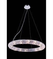 Picture for category Pendants Porch 16 Light With Clear Crystal Royal Cut Chrome size 24 in - World of Classic
