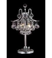 Picture for category Table Lamps 3 Light With Clear Crystal Royal Cut Chrome size 19 in 180 Watts - World of Classic