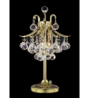 Picture for category Table Lamps 3 Light With Gold Finish Swarovski Strass E12 Bulb 13 inch 180 Watts - World of Classic