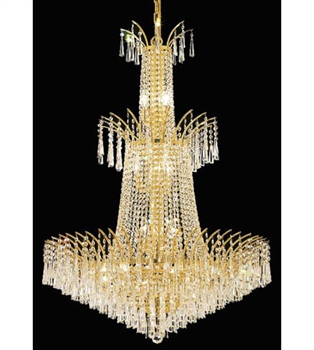 Picture of Pendants 18 Light With Gold Finish Elegant Cut E12 Bulb 32 inch 1080 Watts - World of Classic
