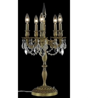 Picture for category Table Lamps 5 Light With Clear Crystal Royal Cut French Gold size 26 in 300 Watts - World of Classic