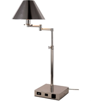 Picture for category Table Lamps 1 Light With Polished Nickel Finish E12 Bulb 8 inch 40 Watts - World of Classic