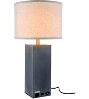 Picture for category Table Lamps 1 Light With Concrete Finish E26 Bulb 14 inch 40 Watts - World of Classic
