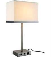 Picture for category Table Lamps 1 Light With Vintage Nickel Finish E26 Bulb 14 inch 40 Watts - World of Classic