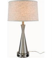Picture for category Table Lamps 1 Light With Vintage Nickel Finish E26 Bulb 15 inch 40 Watts - World of Classic