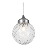 Picture for category Pendants Porch 6 Light LED With Glass Material Polished Chrome size 6 in 5 Watts - World of Lighting