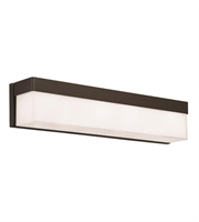 Picture for category Bathroom Vanity 4 Light With Steel Clear White Glass Dark Bronze size 24 in 240 Watts - World of Lighting