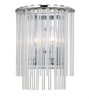 Picture for category Wall Sconces 2 Light With Steel Drum Polished Chrome Finish size 9 in 120 Watts - World of Lighting