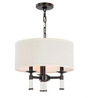 Picture for category Chandeliers 3 Light With Steel Drum Oil Rubbed Bronze size 16 in 180 Watts - World of Lighting