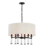 Picture for category Chandeliers 6 Light With Steel Drum Oil Rubbed Bronze size 24 in 360 Watts - World of Lighting