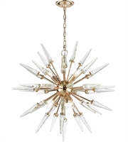 Picture for category Dimond D3369 Valkyrie Chandeliers 28in Gold Clear Crystal Crystal Metal 6-light