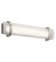 Picture for category Elan 83879 Adara Bath Lighting Brushed Nickel Glass 1-light