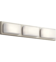 Picture for category Elan 83897 Kelsi Bath Lighting Brushed Nickel Steel 3-light