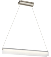 Picture for category Elan 83900 Rainfall Island Lighting 2in Brushed Nickel Steel 1-light