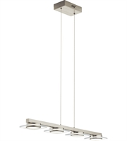 Picture for category Elan 83945 Azenda Island Lighting Brushed Nickel Steel 4-light