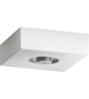 Picture for category Elan 83980 Mates Flush Mounts Textured White Steel 1-light