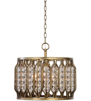 Picture for category Uttermost 22111 Jensen Pendants Siler Swedish Iron Iron Acrylic 4-light
