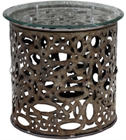 Picture for category Uttermost 25770 Zama Tables 25in Natural Steel Iron Metal Glass