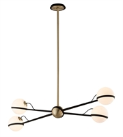 Picture for category Troy F5307 Ace Pendants Textured Bronze Brushed Brass Hand Worked Iron 4-light