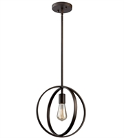 Picture for category Artcraft AC10881OB Newport Pendants 12in Oil Rubbed Bronze Metal 1-light