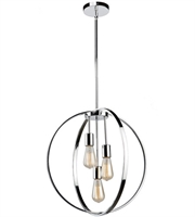 Picture for category Artcraft AC10883CH Newport Chandeliers 19in Chrome Metal 3-light