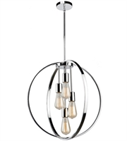 Picture for category Artcraft AC10884CH Newport Chandeliers 24in Chrome Metal 4-light