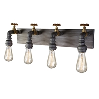 Picture for category Artcraft AC10814 American Industrial Wall Sconces 7in Iron & Brass Metal