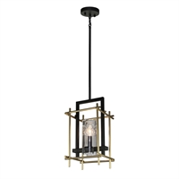 Picture for category Artcraft AC10940 Riverview Pendants 9in Oil Rubbed Bronze & Satin Brass 1-light