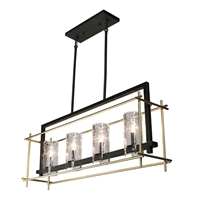 Picture for category Artcraft AC10945 Riverview Island Lighting 9in Oil Rubbed Bronze & Satin Brass