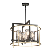 Picture for category Artcraft AC10946 Riverview Chandeliers 20in Oil Rubbed Bronze & Satin Brass
