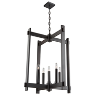 Picture for category Artcraft CL15085OB Cityscape Chandeliers 20in Oil Rubbed Bronze Metal 5-light