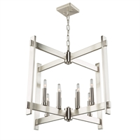 Picture for category Artcraft CL15088PN Cityscape Chandeliers 26in Polished Nickel Metal 8-light