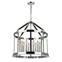 Picture for category Artcraft SC13168 Dover Chandeliers 25in Chrome & Brown Metal & Ressin 8-light