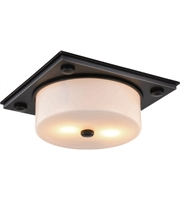 Picture for category Elegant 1480F13BZ Trais Flush Mounts 13in Bronze 2-light