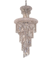 Picture for category Elegant V1800SR16C/RC Spiral Chandeliers 16in Chrome 10-light