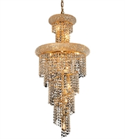 Picture for category Elegant V1800SR16G/RC Spiral Chandeliers 16in Gold 10-light