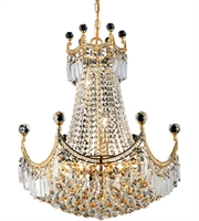 Picture for category Elegant V8949D20G/RC Corona Chandeliers 20in Gold 9-light