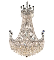 Picture for category Elegant V8949D24C/EC Corona Chandeliers 24in Chrome 18-light