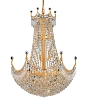Picture for category Elegant V8949D30G/RC Corona Chandeliers 30in Gold 24-light