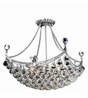 Picture for category Elegant V9800D20C/EC Corona Chandeliers 20in Chrome 8-light
