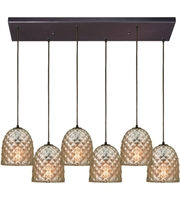 Picture for category Elk 10765/6RC Brimley Pendants 30in Oil Rubbed Bronze Metal Glass 6-light