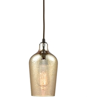 Picture for category Elk 10840/1 Hammered Glass Pendants 5in Oil Rubbed Bronze Metal Glass 1-light