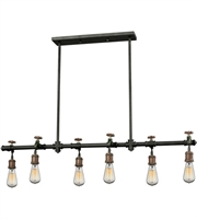 Picture for category Elk 14289/6 Jonas Chandeliers 48in Multi Toned Weathered Metal 6-light