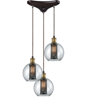 Picture for category Elk 14530/3 Bremington Pendants 10in Oil Rubbed Bronze with Tarnished Brass